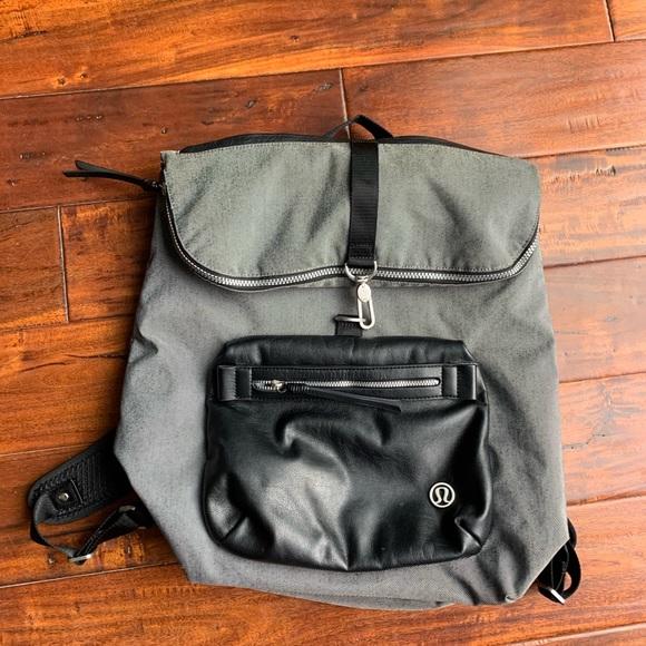 Lululemon kickin' it backpack slate.